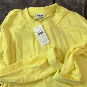 Splendid Cropped Yellow Sweatshirt